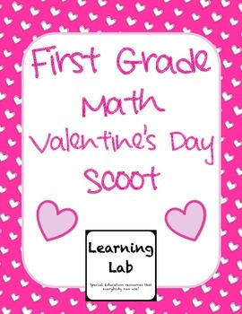 1st Grade Valentine's Day Math Scoot