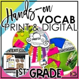 1st Grade Vocabulary Bundle Print and Digital | Hands-on Reading