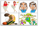 1st Grade Vocabulary Picture Matching Short Read Task Cards (24 Cards)