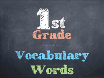 1st Grade Vocabulary Words