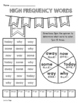 High Frequency Word Activities 1st Grade WONDERS  Unit 3