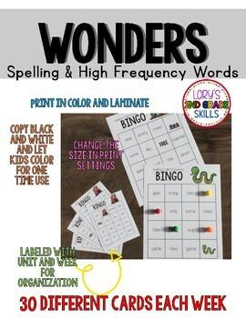 BINGO 1st Grade WONDERS Spelling & High Frequency Word Unit 5