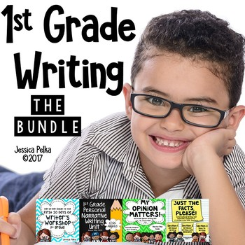 1st Grade WRITING WORKSHOP Bundle - Writing Plans for the Entire Year!