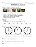 1st Grade Warm-Up Worksheets - 10 Pack Bundle #1