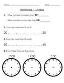 1st Grade Warm-Up Worksheets - 5 Pack Bundle #1 ( + Free Graph Worksheet)