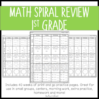 1st Grade Weekly Common Core Homework {BUNDLE}