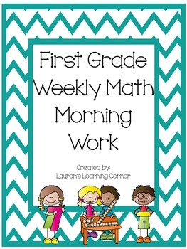 1st Grade Weekly Math Morning Work