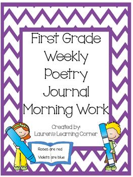 1st Grade Weekly Poetry Journal - Morning Work