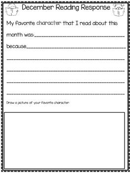 1st Grade Weekly Reading Log - Morning Work