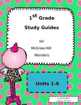 1st Grade McGraw-Hill Wonders (editable) Weekly Study Guid