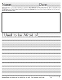 1st Grade Weekly Writing Homework Set- Houghton Mifflin