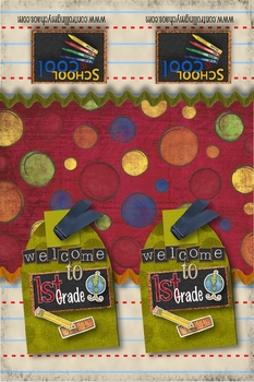1st Grade - Welcome Back to School Bookmark