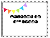 1st Grade Welcome Postcard