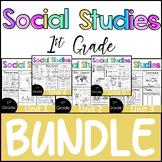 1st Grade - BUNDLE -Whole Year Worksheets- Social Studies - TEKS aligned