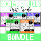 1st Grade - BUNDLE -Whole Year Worksheets- Social Studies - TEKS Aligned