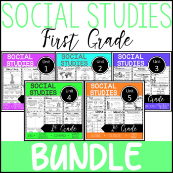 1st Grade - Whole Year - Social Studies - TEKS aligned
