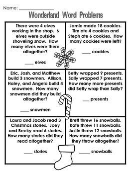 1st Grade Winter Break Practice