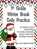 1st Grade Winter Break Practice