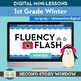 1st Grade Winter Fluency in a Flash GROWING BUNDLE (6wks) • Digital Mini Lessons