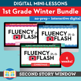 1st Grade Winter Reading Fluency in a Flash Bundle (6wks) • Digital Mini Lessons