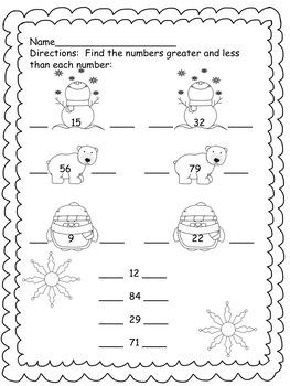 1st Grade Winter Fun