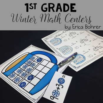 1st Grade Winter Math Centers