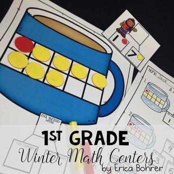 Winter Math Centers: 1st Grade