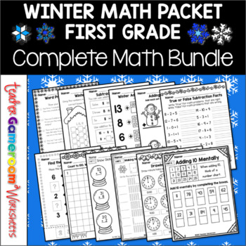 1st Grade Winter Math Packet - Common Core Aligned!