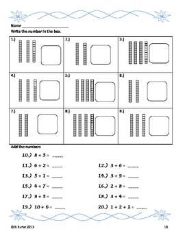 1st Grade Large Winter/Christmas Packet - Math Coloring Pictures - 6 Activities!