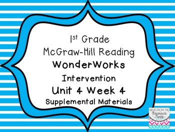 1st Grade WonderWorks Supplement -Unit 4 Week 4
