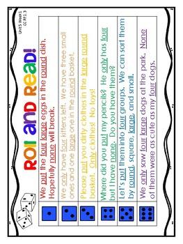 1st Grade Wonders (2014) - Unit 5 - Fluency Sentences Assessment & HFW Practice
