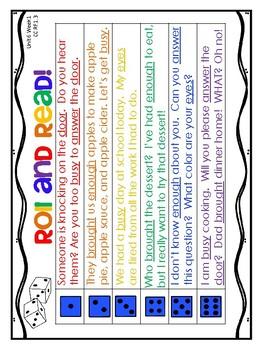 1st Grade Wonders (2014) - Unit 6 - Fluency Sentences Assessment & HFW Practice