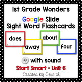 1st Grade Wonders Google Slide Sight Word Flashcards (Dist