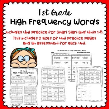 1st Grade Wonders High Frequency Words - Practice and Assessments
