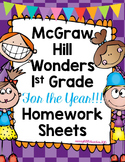 1st Grade Wonders Homework Sheets for the Entire Year