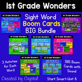 1st Grade Wonders Sight Word Boom Cards BIG Bundle (Distance Learning)
