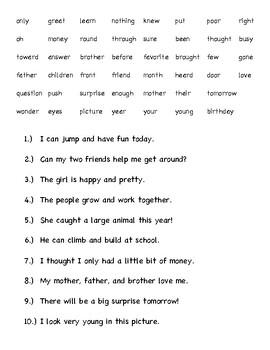 "1st Grade Wonders Sight Word ""Study Buddy"""
