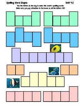 1st Grade Wonders Spelling Boxes 4-2