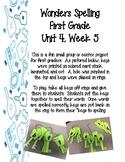 1st Grade Wonders Spelling Keys 4-5