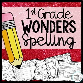 NO PREP 1st Grade Wonders Spelling Activity Worksheets