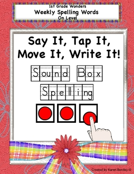 1st Grade Wonders Spelling Sound Box Spelling - On Grade Level