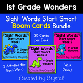 1st Grade Wonders Start Smart Sight Word Boom Cards Bundle