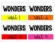 1st  Grade Wonders Storage Labels