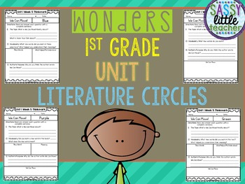 1st Grade Wonders Unit 1 Literature Circles