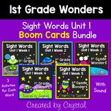 1st Grade Wonders Unit 1 Sight Word Boom Cards Bundle (Dis