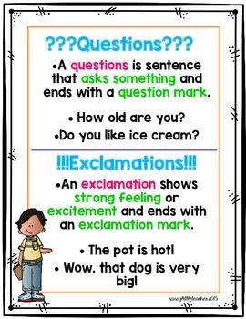 1st Grade Wonders Unit 1 Week 4 Grammar Charts and Assessments