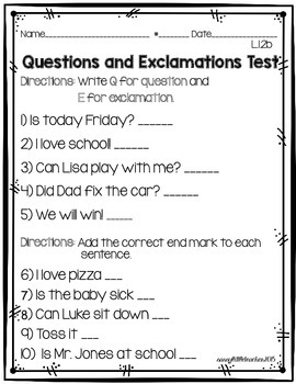 1st Grade Wonders Unit 1 Week 4 Grammar Charts and Assessments