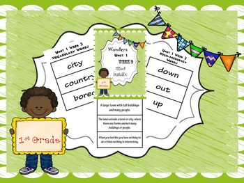 1st Grade Wonders Unit 1 Word Bundle