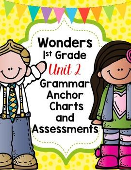 1st Grade Wonders Unit 2 Grammar Charts and Assesments
