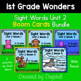 1st Grade Wonders Unit 2 Sight Word Boom Cards Bundle (Dis